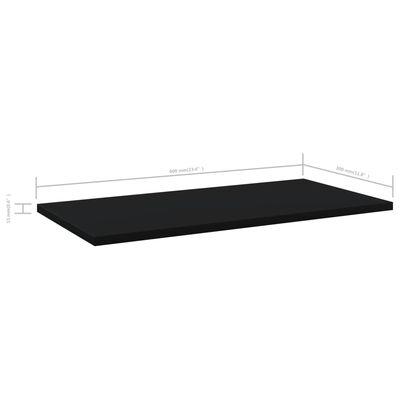 vidaXL Hyllplan 8 st svart 60x30x1,5 cm spånskiva
