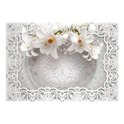 Fototapet - Lilies And Ornaments - 250x175 Cm
