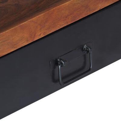 vidaXL TV-bänk 120x30x40 cm massivt sheshamträ