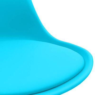 vidaXL Matstolar 4 st blå konstläder