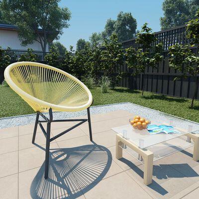 vidaXL Acapulcostol för trädgården konstrotting beige