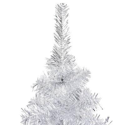 vidaXL Plastgran med fot silver 240 cm PET