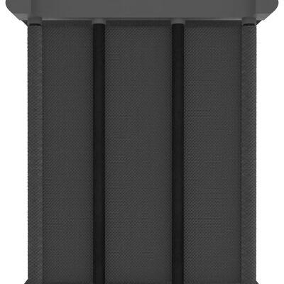 vidaXL Hylla med 5 kuber grå 103x30x72,5 cm tyg