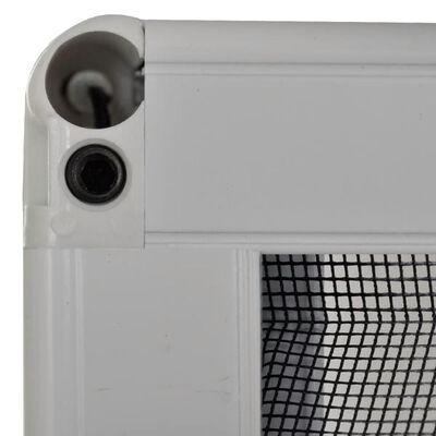 vidaXL Plisserat insektsnät för fönster 60x80 cm aluminium