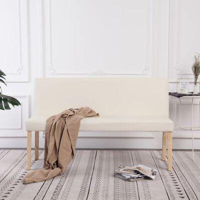vidaXL Bänk 139,5 cm konstläder gräddvit