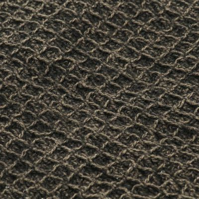 vidaXL Filt bomull 160x210 cm antracit/brun