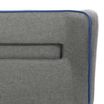 vidaXL Sängram med LED ljusgrå tyg 140x200 cm