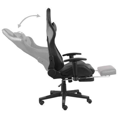 vidaXL Snurrbar gamingstol med fotstöd grå PVC