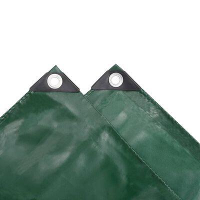 vidaXL Presenning 650 g/m² 1,5x6 m grön, Green