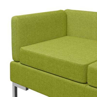 vidaXL Soffgrupp tyg 3 delar grön