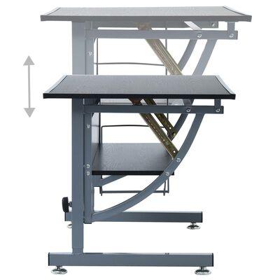 vidaXL Ritbord för tonåringar svart 110x60x87 cm MDF