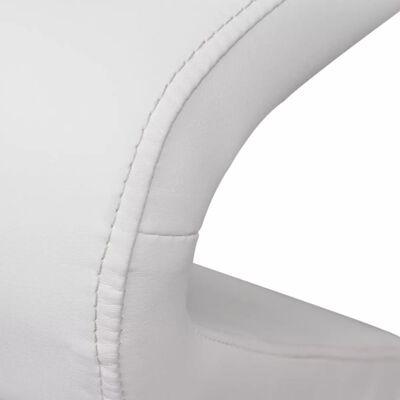 vidaXL Matstolar 2 st vit konstläder