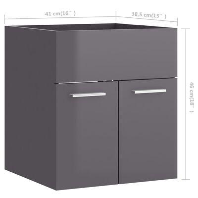 vidaXL Badrumsmöbler set 2 delar grå högglans spånskiva