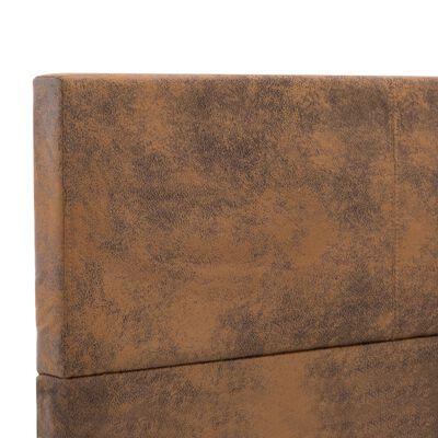 vidaXL Sängram brun konstmocka 160x200 cm