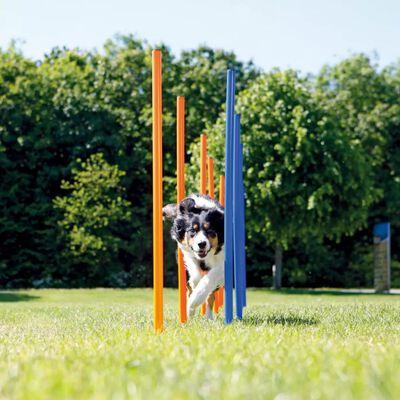 TRIXIE Agility slalompinnar hund 12 st 115 cm plast 3206