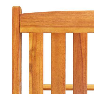 vidaXL Solsängar 2 st med bord och dynor massivt akaciaträ