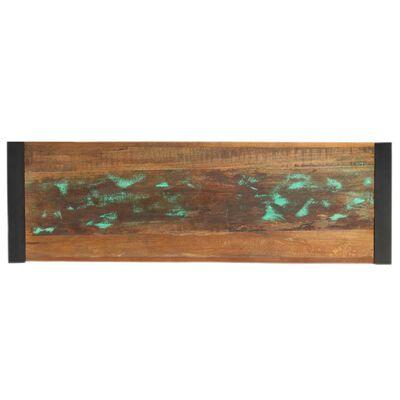 vidaXL Avlastningsbord 110x35x76 cm massivt återvunnet trä