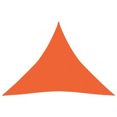 vidaXL Solsegel 160 g/m² orange 4x4x4 m HDPE