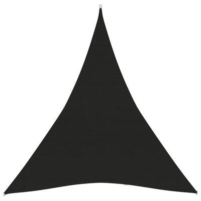 vidaXL Solsegel 160 g/m² svart 5x6x6 m HDPE