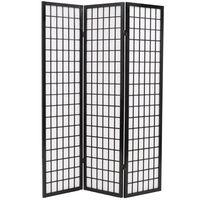 vidaXL Rumsavdelare med 6 paneler japansk stil 240x170 cm svart