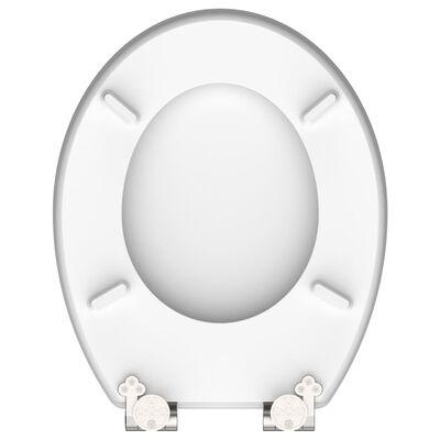 SCHÜTTE Toalettsits högglans med mjuk stängning RED STARFISH MDF