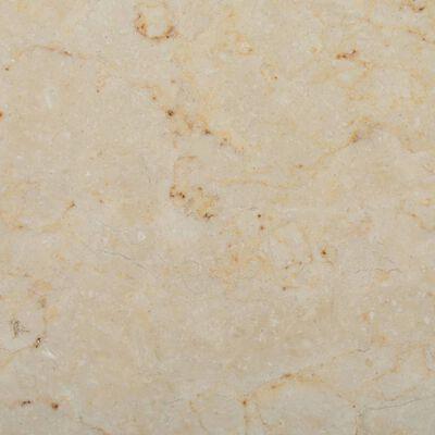 vidaXL Bordsskiva gräddvit Ø70x2,5 cm marmor