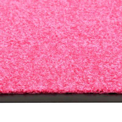 vidaXL Dörrmatta tvättbar rosa 120x180 cm
