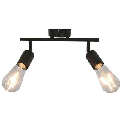 vidaXL 2-vägs spotlight 2 W svart E27