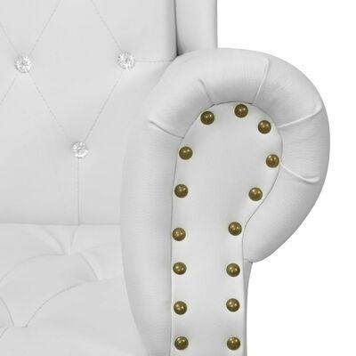 vidaXL Stol med högt ryggstöd 77x65x181 cm vit