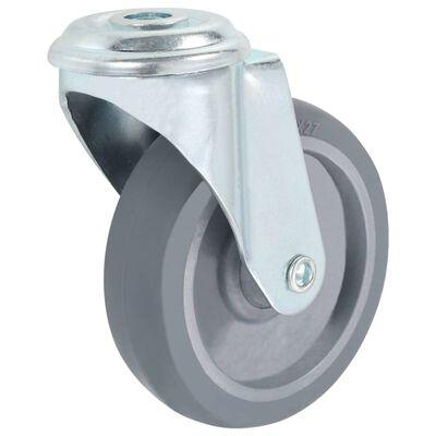 vidaXL Länkhjul med bulthål 4 st 100 mm
