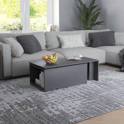 vidaXL Soffbord grå 150x50x35 cm spånskiva