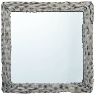 vidaXL Spegel 60x60 cm korgmaterial