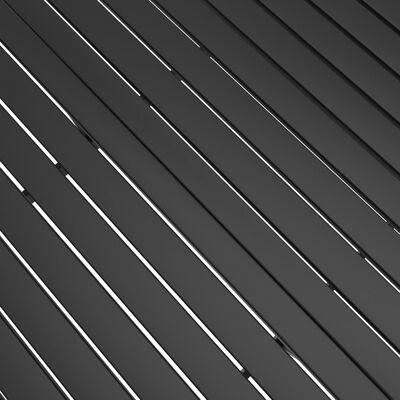 vidaXL Matgrupp för trädgården 7 delar textilen och stål