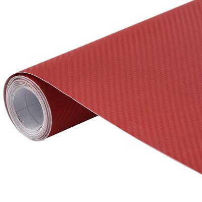 vidaXL Bilfoliering matt 3D röd 500x152 cm