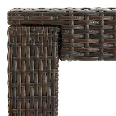vidaXL Barbord för trädgården brun 140,5x60,5x110,5 cm konstrotting