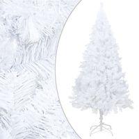 vidaXL Plastgran med tjocka grenar vit 210 cm PVC