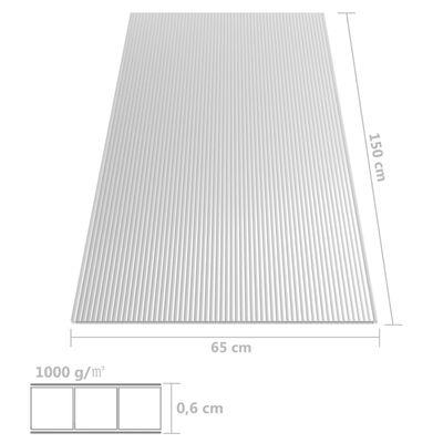 vidaXL Polykarbonatark 5 st 6 mm 150x65 cm