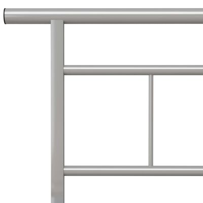vidaXL Sängram grå metall 180x200 cm