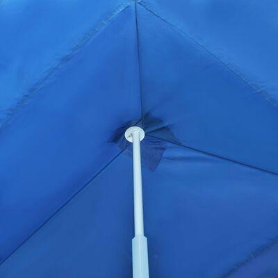 vidaXL Pop-Up hopfällbart partytält med 5 sidoväggar blå 3x9 m