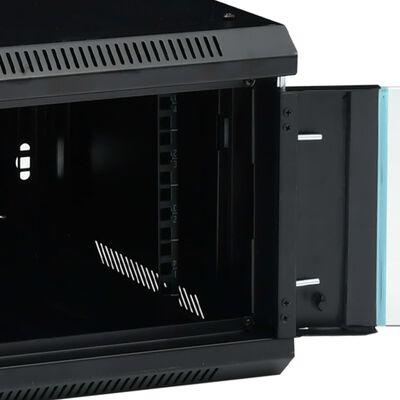 """vidaXL 22U Nätverksskåp med svänghjul 19"""" IP20 1050x600x1170 mm"""