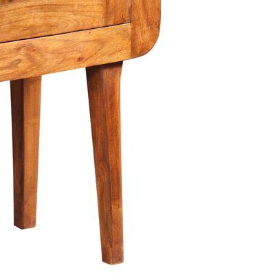 vidaXL Skänk massivt trä med sheesham-ytbehandling 120x30x75 cm