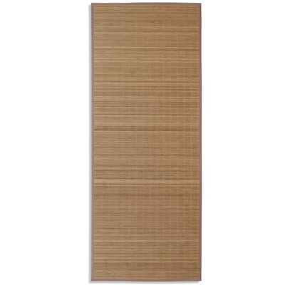 Fyrkantig Brun Bambumatta 80 x 200 cm