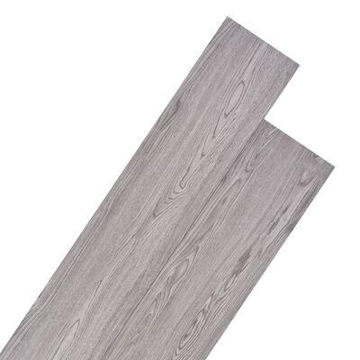 vidaXL Golvbrädor i PVC 5,26 m² 2 mm mörkgrå