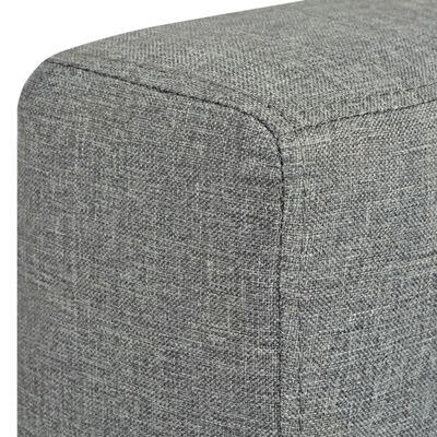 vidaXL 3-sitssoffa i tyg ljusgrå