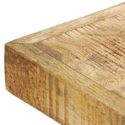 vidaXL Matbord 120x60x75 cm massivt grovt mangoträ