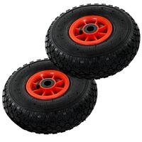 vidaXL Hjul till säckkärra 2 st gummi 260x85 cm 3.00-4