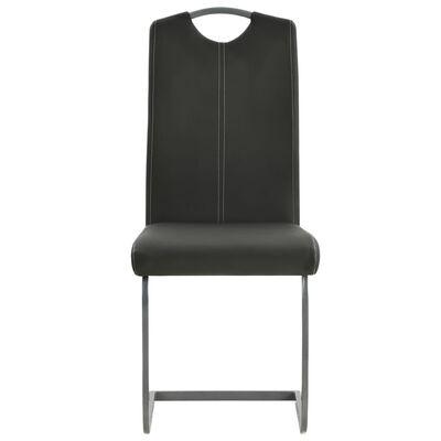 vidaXL Frihängande matstolar 4 st grå konstläder