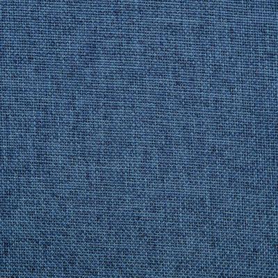vidaXL Snurrbara matstolar 2 st blå tyg