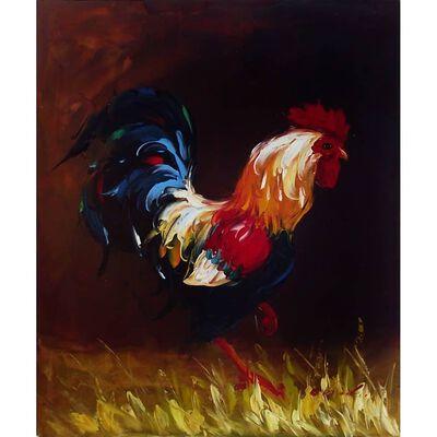 Tupp, oljemålning på duk, 50x60 cm