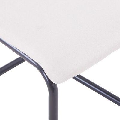 vidaXL Fribärande matstolar 2 st gräddvit tyg